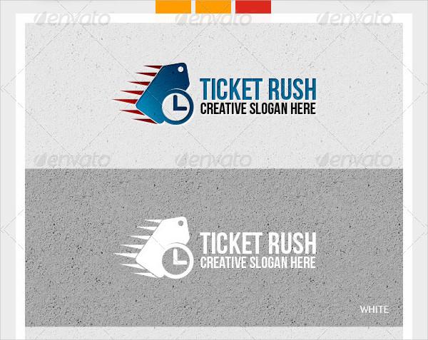 Ticket Rush Logo Template