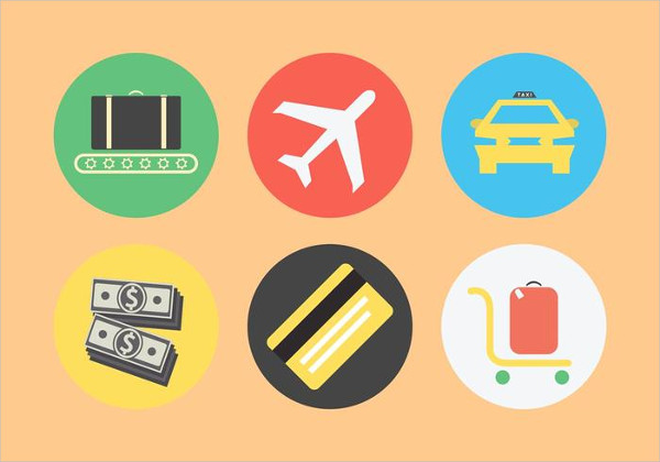 Airport Related Icon Set Free Download