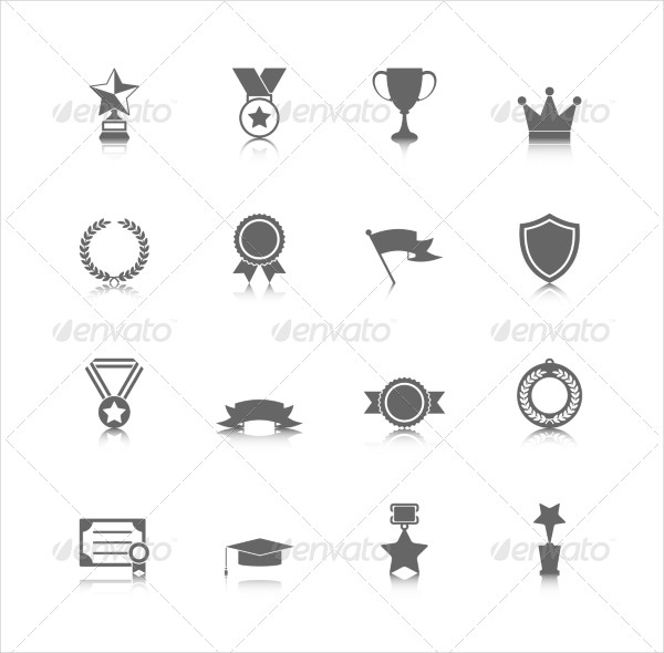 Award Icons Set Collection