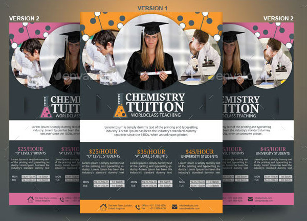Chemistry Tutor Flyer Template