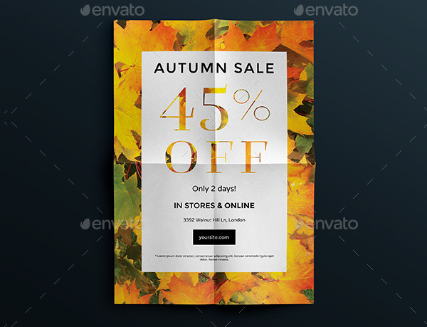 Commercial Autumn Sale Flyers and Posters