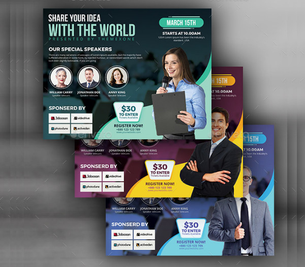 Corporate Conference PSD Flyer Template