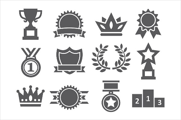 Editable EPS Awards Icons