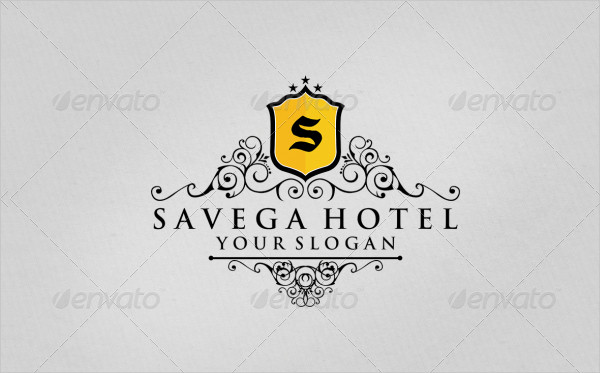 Savega Hotel Photoshop Logo Template