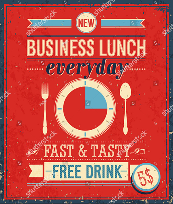 Vintage Bussiness Lunch Poster