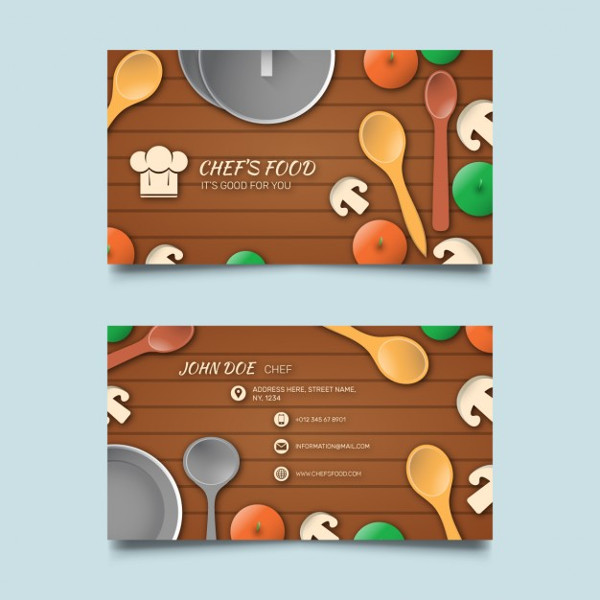 Business Cards for Chefs Free Download