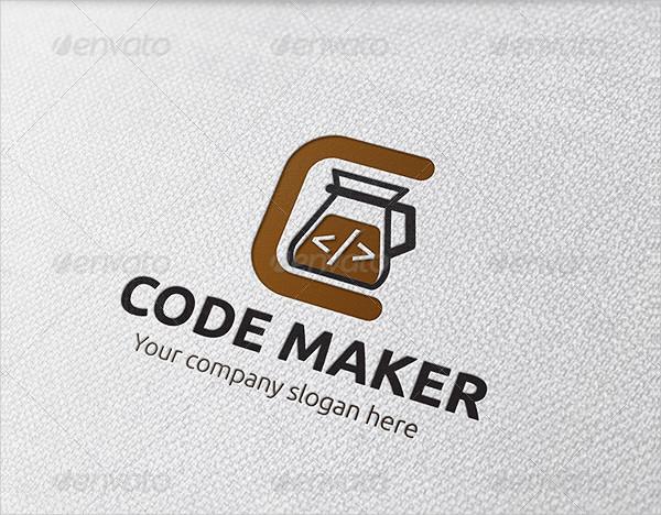 Code Maker Coffee Logo Template
