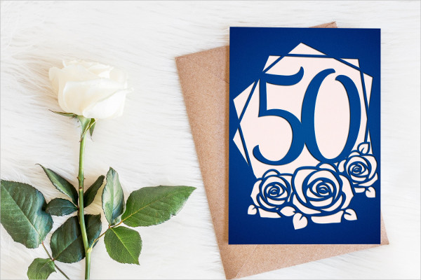 Cool 50th Birthday Card Template