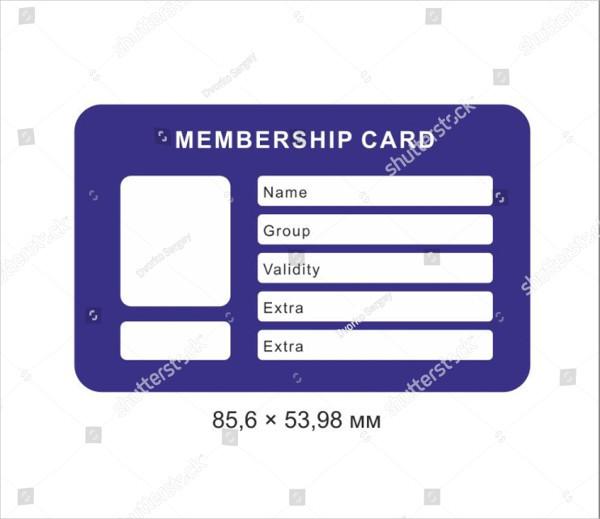 Creative Membership Card Template