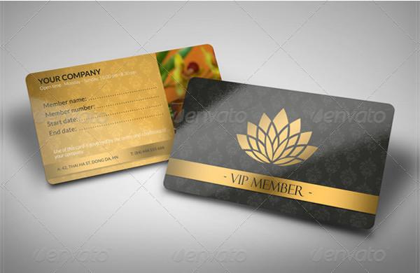 Luxury Spa Member Card Template