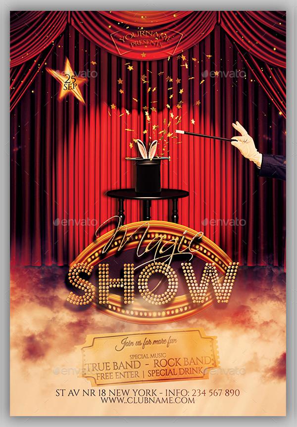 PSD Show Time Flyer Design