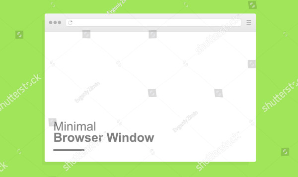 Minimal Browser Window Mockup