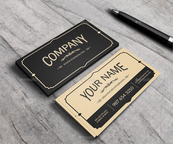 Old Style Business Card Design