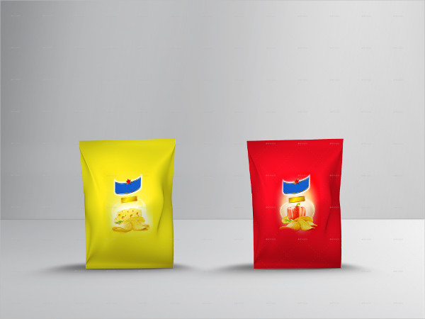 Small Size Potato Chips Bag Mock-up