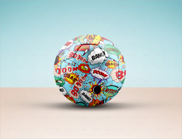 Soccer Ball Mockup Template for Portfolio