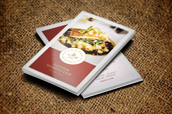 Stylish Cook Business Card Template
