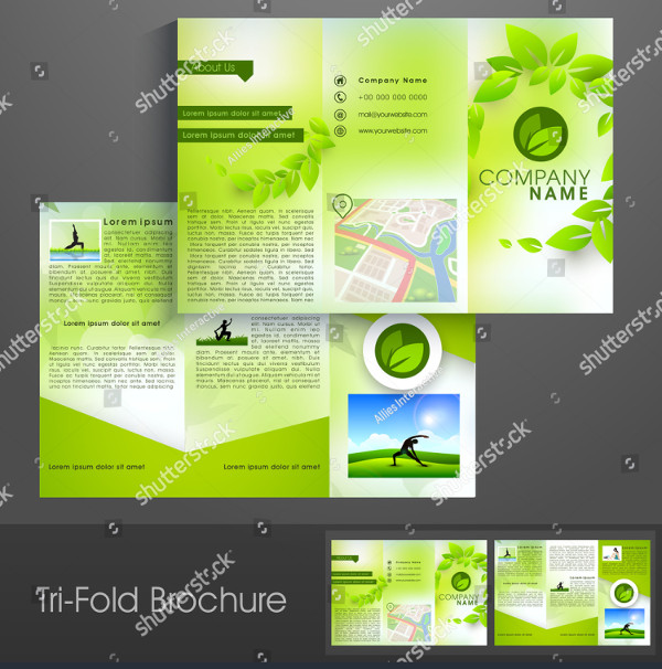 Stylish Yoga Trifold Brochure Template