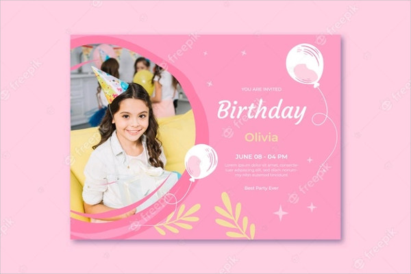 Template with Balloon Free Download