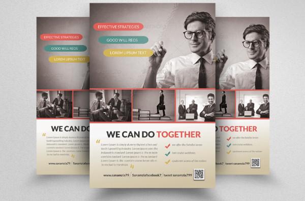 Business Training Agent Flyer Designs