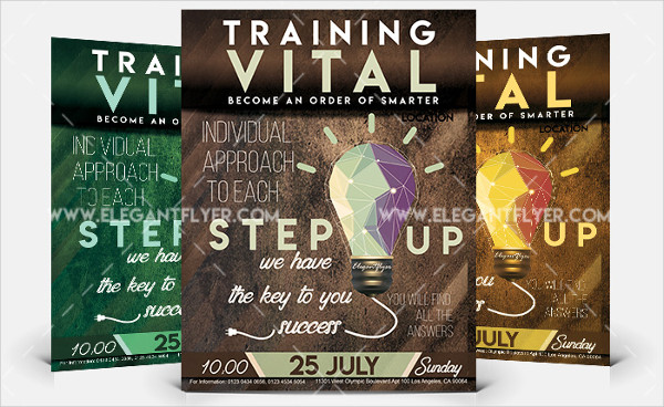 Business Training Free Flyer PSD Template