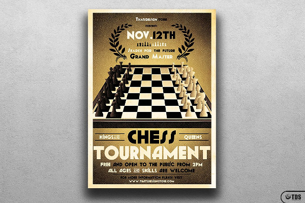 Chess Club Flyer Template
