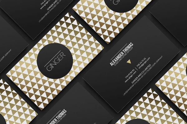 Classy Gold Business Card Design