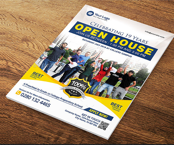 Open House College Flyer Template