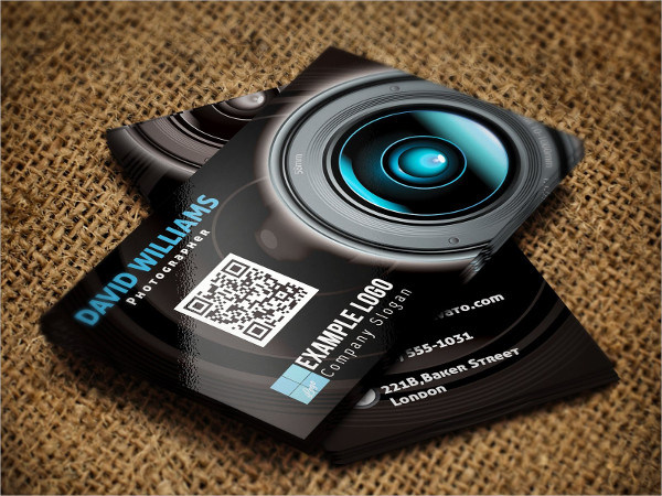 Personal Photographer Business Card Template