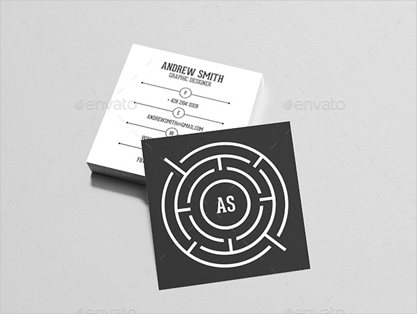 Square Personal Business Card Template
