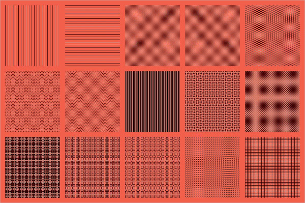 375 Pixel Patterns for Photoshop