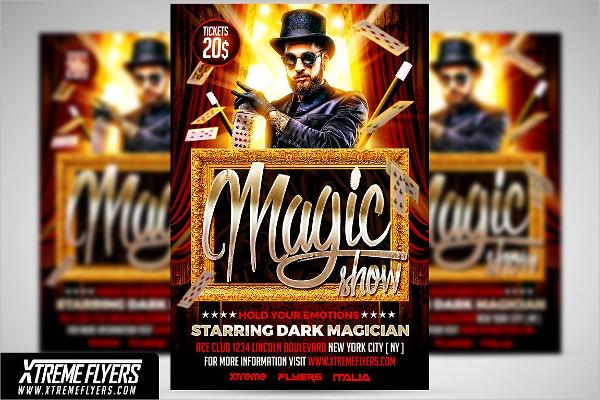 Unique Magician Flyer Design