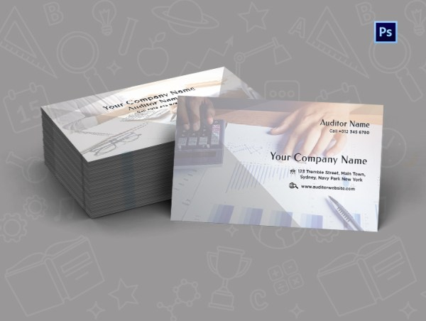 Custom Auditing Business Card Design