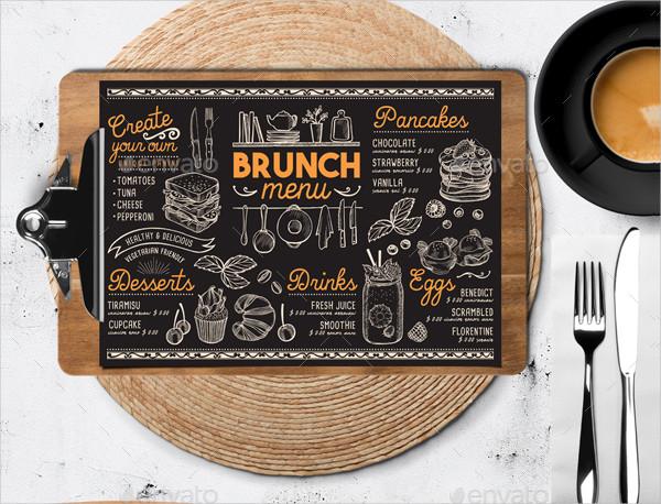 Custom Brunch Food Menu Design