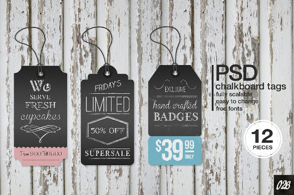 Chalkboard Wedding Label Templates