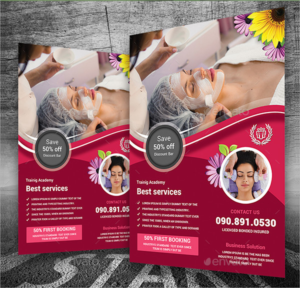 Creative Spa Services Flyer Template