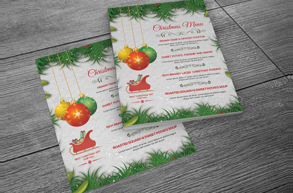 Custom Holiday Menu Template