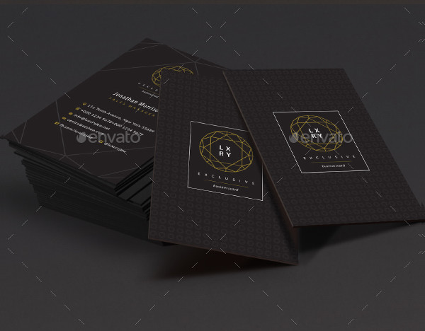 Exclusive Luxury Business Card Template