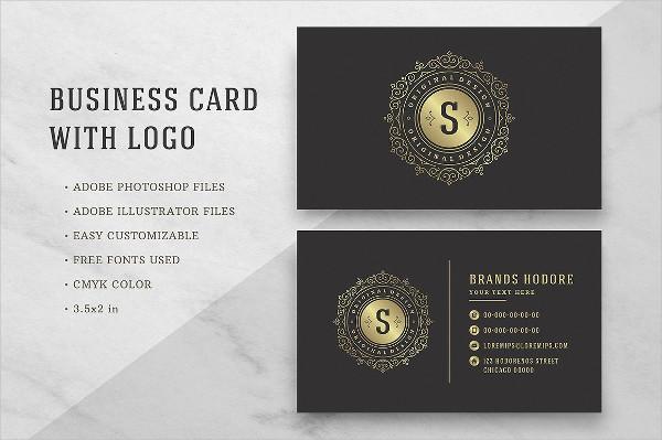 Luxury Golden Flourishes Ornament Business Card