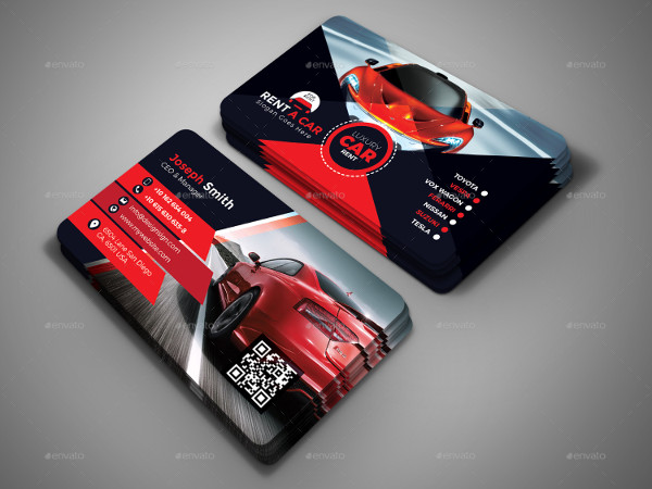 Luxury Rent A Car Business Card