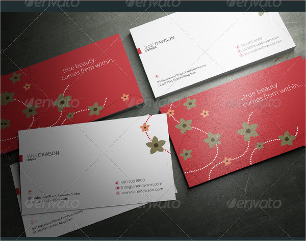 Minimalist Floral Business Cards