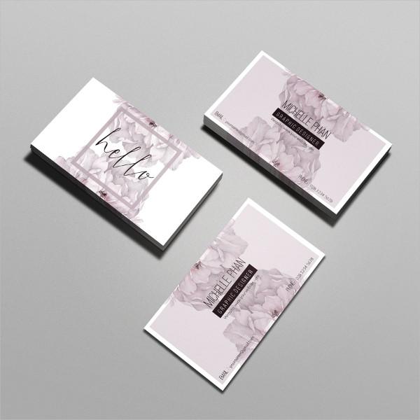 Modern Floral Business Card Template