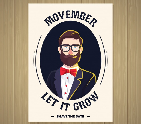 Movember Brochure with Modern Hipster Free