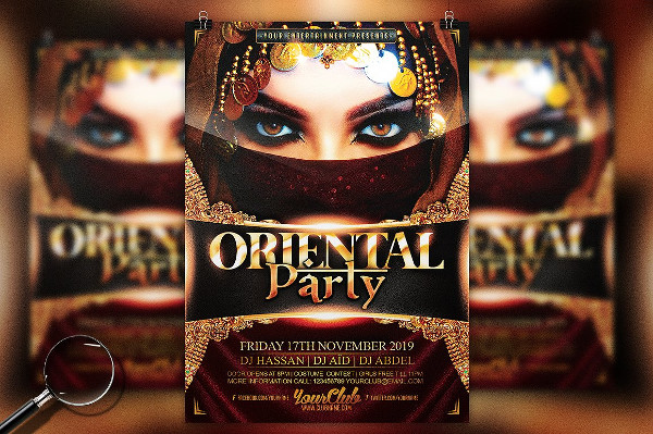 Oriental Party Gold Flyer