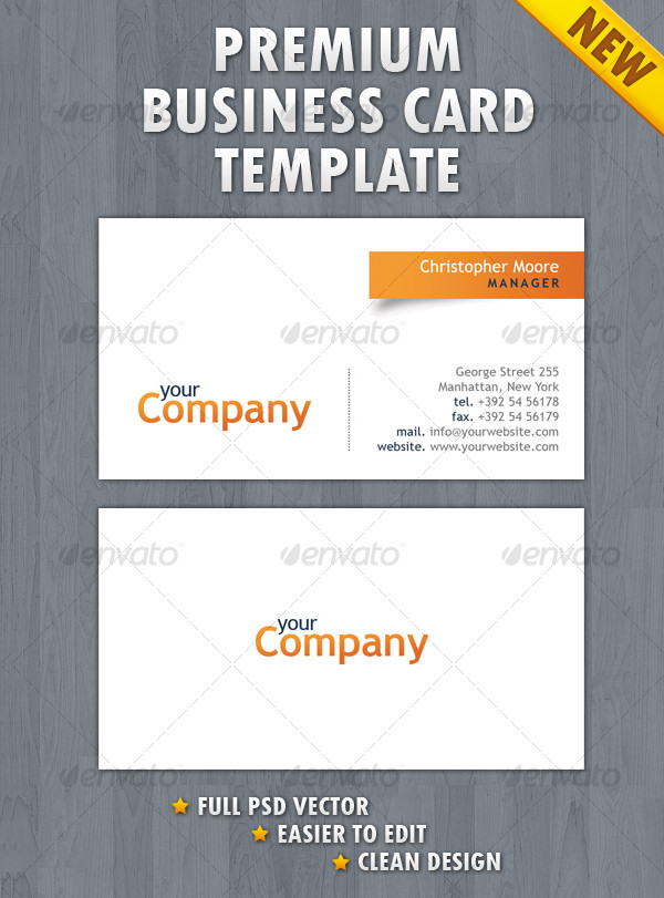 Printable Business Card Template