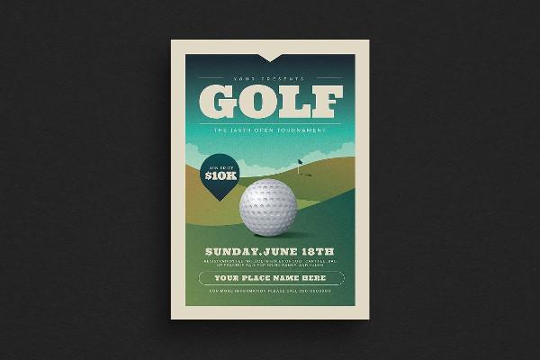 Printable Golf Club Flyer Template