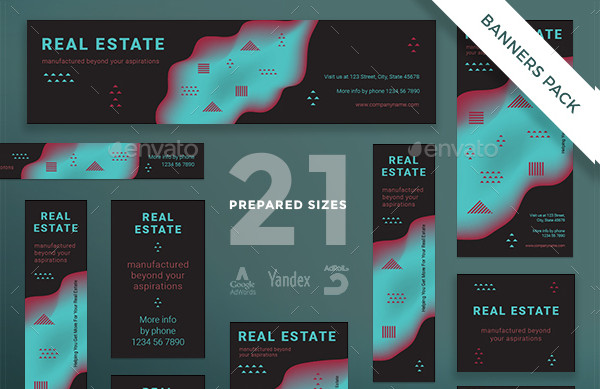 Real Estate Company Banner Pack