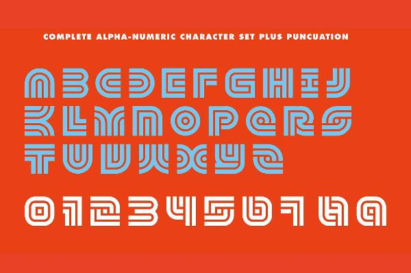 Retro Geometric Font