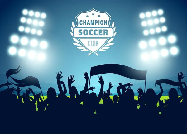 Soccer Football Poster Vector Free