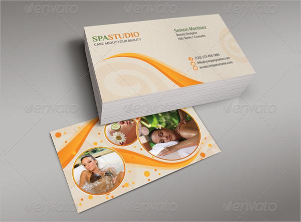 Spa Studio Business Card Design