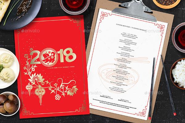 Best Chinese Menu PSD Design